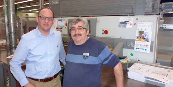 Andreas Burch, production manager, and Emilio Marziano, head of the finishing department (from the left)